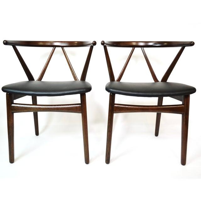 Image of Danish Bruno Hansen Dining Chairs - A Pair