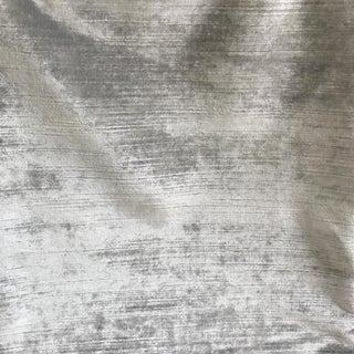 Silver Velvet Textile - 1.25 Yards