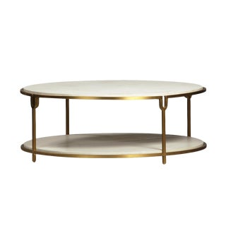 White & Gold Round Coffee Table