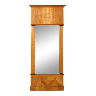 Biedermeier Satin Birch Mirror