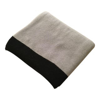 Large Thin Grey Cashmere Blanket