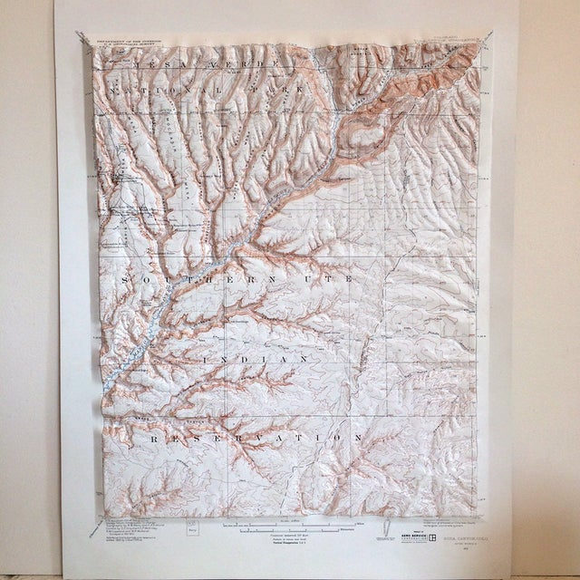 Vintage Relief Map of Soda Canyon Colorado - Image 2 of 6