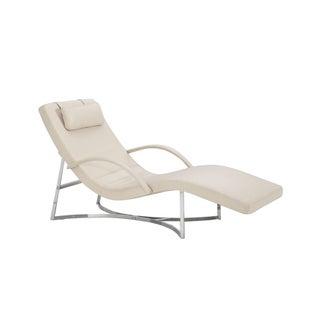 Cierre Vulcano White Leather Chaise