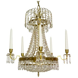 Empire 5 Cognac Octagon Chandelier