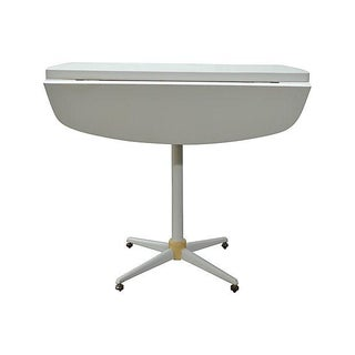 Wood & Mica White Folding Kitchen Table