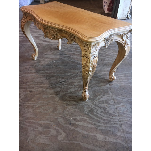 Image of Italian Carved Wood Console Table