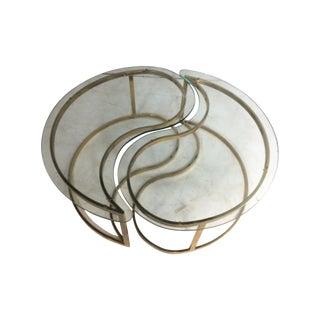 Brass Yin and Yang Coffee Table
