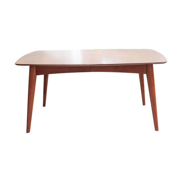 Wooden Mid Century Modern Expandable Dining Table - Image 3 of 5