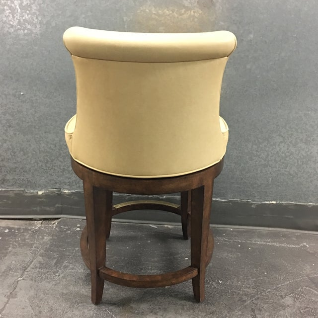 New Pearson Savannah Leather Swivel Counter Stool - Image 5 of 7