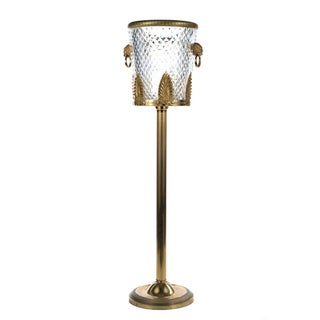 Antique French Cut Glass & Brass Ormolu Ice Bucket