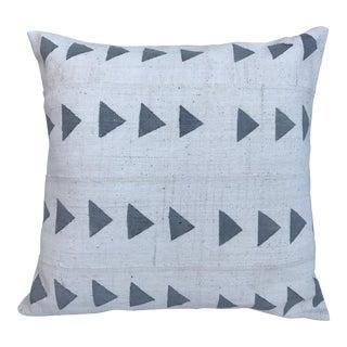 Grey & White Arrow Mud Cloth Textile Pillow