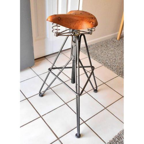 Bicycle Seat Adjustable Height Swivel Stool Bar Counter