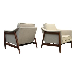 Pair of Danish MId Century Modern Teak Lounge Chairs