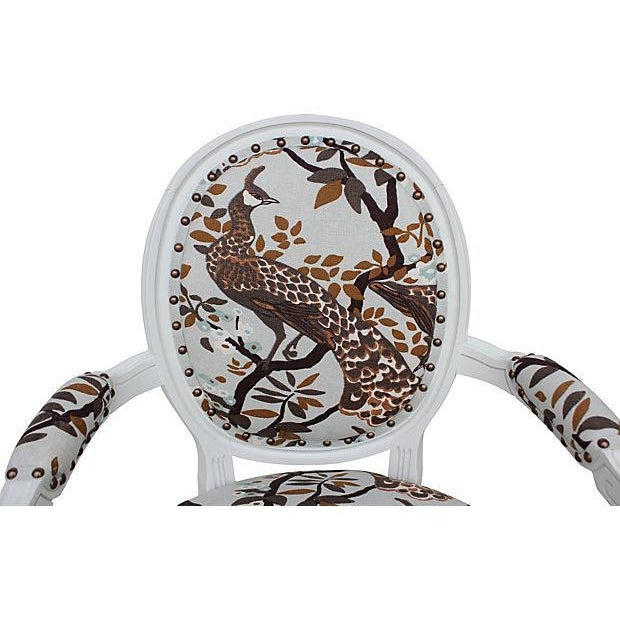 Vintage White Peacock Chairs - A Pair - Image 5 of 9