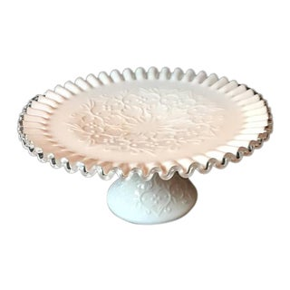 Fenton Silver Crest Spanish Lace Cake Stand
