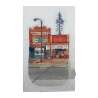 """Steve Klinkel """"Mainstreet"""" Original Watercolor Painting"""