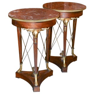 Pair of 19th Century French Empire Side Tables