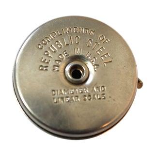 Vintage Industrial Metal Tape Measure
