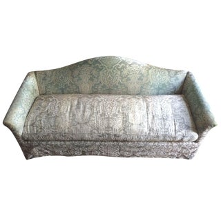 Fortuny Covered Camel-Back Sofa with Rolled Arms