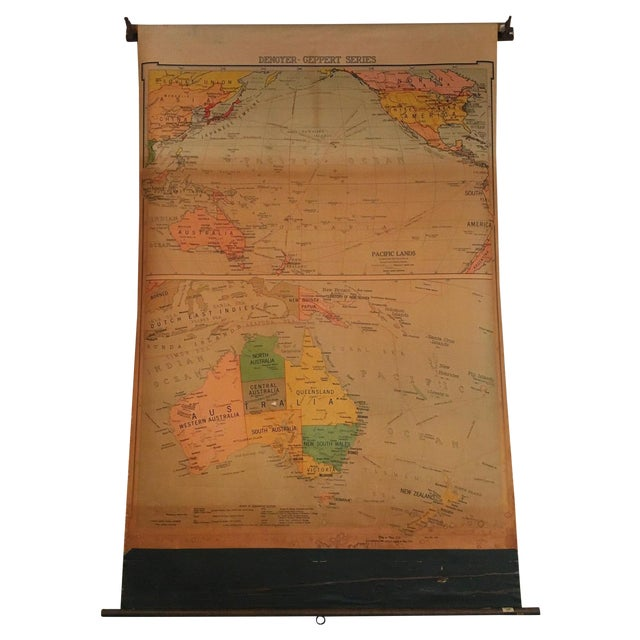 Vintage Map of Australasia - Image 1 of 3