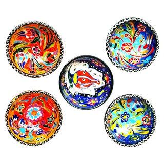 Turkish Tile Bowls - Set of 5