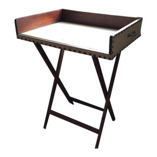 Vintage Portable Mahogany Bar Table