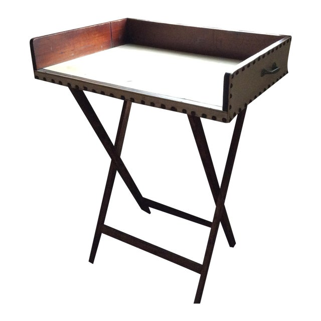 Vintage Portable Mahogany Bar Table Chairish