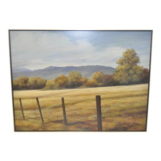 """C. 1950s Jack Young """"Sierra Foothills"""" Oil Painting"""