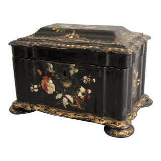 Antique Chinoiserie Paper Mache Box