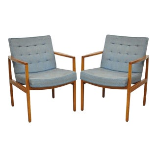 Florence Knoll International Mid-Century Modern Lounge Armchairs - A Pair