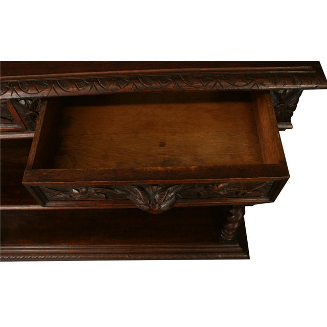 Image of Small Antique Sideboard Server