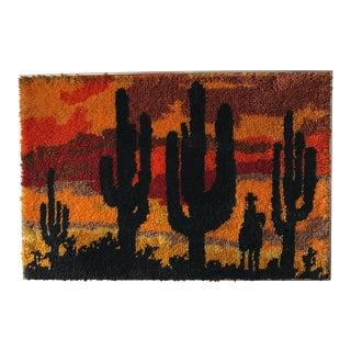 Mid-Century Cactus Shag Wall Art
