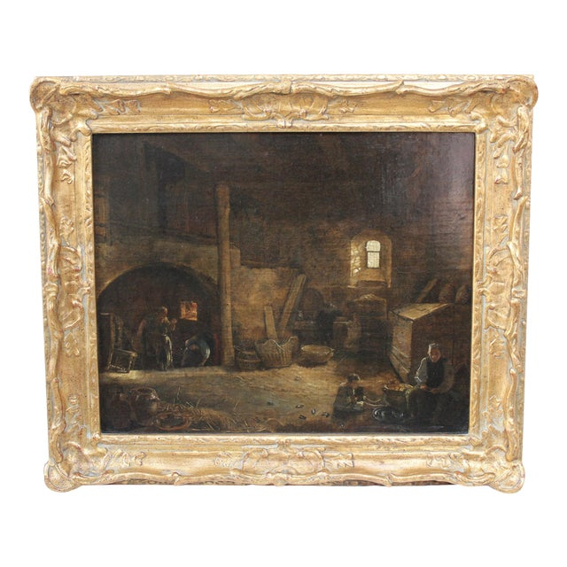 Bakery Interior Oil Painting - Image 1 of 7