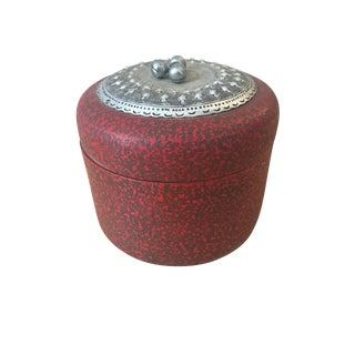 Red Chinoiserie Trinket Lidded Box