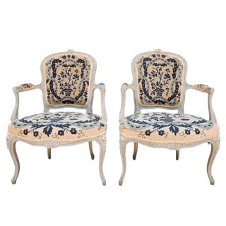 Pair of French Petit Point Fauteuils