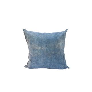 Bleached Denim Square Pillow