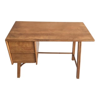 Heywood-Wakefield Blonde Maple Desk