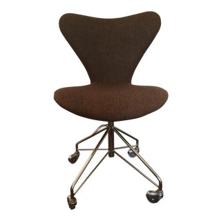 Arne Jacobsen for Fritz Hansen Upholstered Swivel Desk Chair