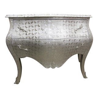 Silver Dresser with Butterfly Print