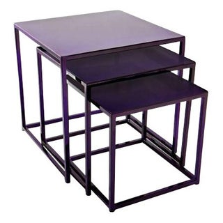 Cromatti Nesting Tables in Purple