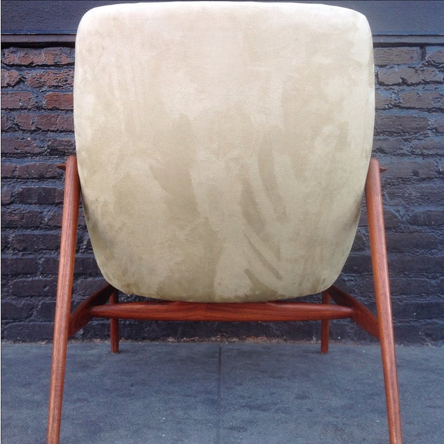 Danish Suede Lounge Chair - Image 5 of 7