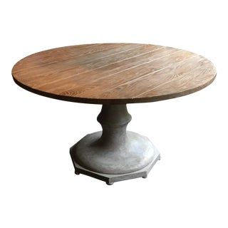 Champagne Ash Wood Pedestal Table