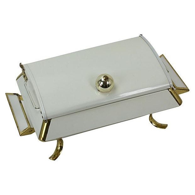 Hollywood Regency White and Gold Buffet Server - Image 5 of 5