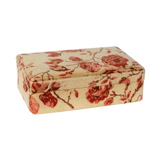 Italian Velour Jewelry Box