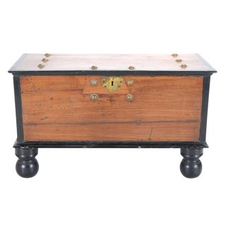 19th Century Antique Indo Dutch Coffer Trunk