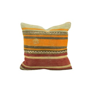 Aged Vintage Kilim Pillow