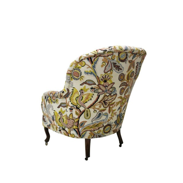 Tufted Crewelwork Victorian Club Chair - Image 3 of 3
