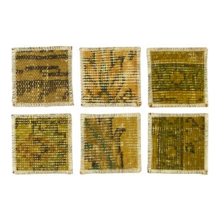 Carpet Coasters | Yellow Overdye Coasters