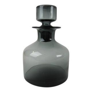 Mid-Century Modern Smoky Glass Decanter