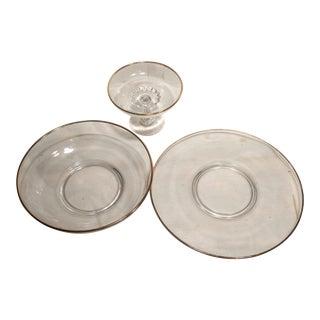 Vintage Platters With Gold Trim - Set of 3